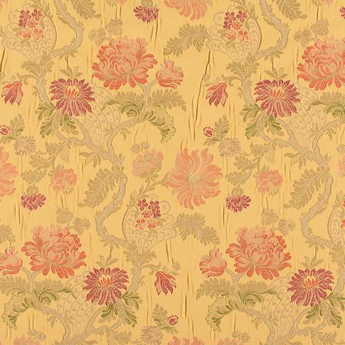 Old World Weavers Palazzo Pamphily Lampas Golden Spice Fabric - Fabric