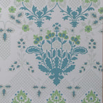 Groundworks Drummond Damask Sea Glass Wallpaper