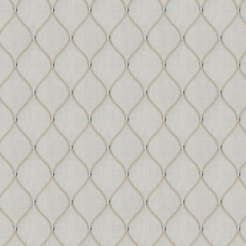Fabricut Engine Ogee Teastain Fabric - Fabric