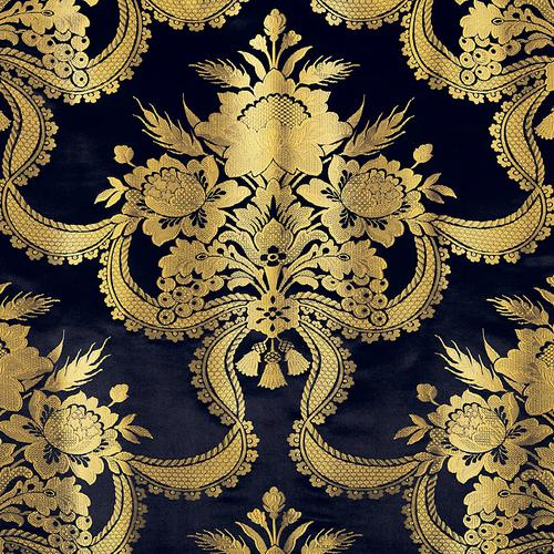 Old World Weavers Reale Nastri Midnight Fabric - Fabric