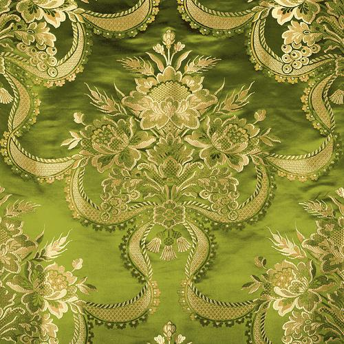 Old World Weavers Reale Nastri Pear Gold Fabric - Fabric