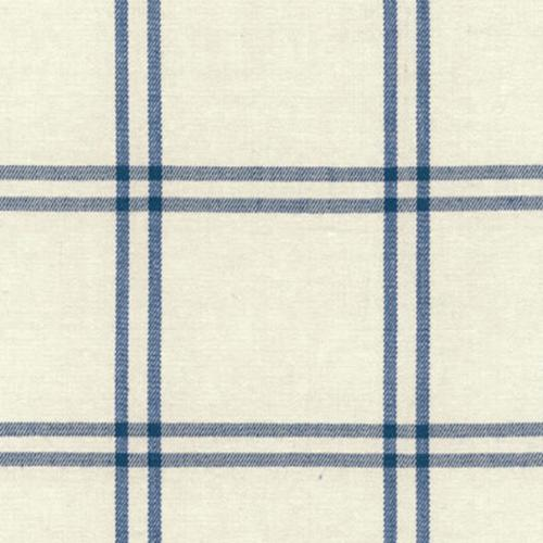Schumacher Luberon Plaid Indigo Fabric - Fabric