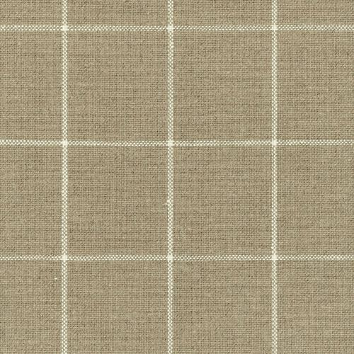 Schumacher Glenariff Linen Check Natural Fabric - Fabric