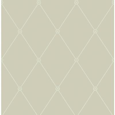 Cole & Son Large Georgian Rope Trellis Olive Wallpaper - Wallpaper