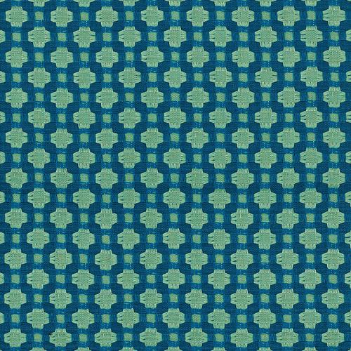 Schumacher Betwixt Peacock/Seaglass Fabric - Fabric