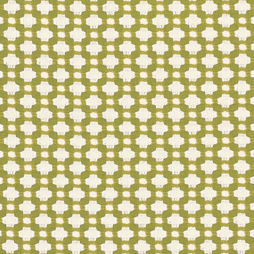 Schumacher Betwixt Grass/Ivory Fabric - Fabric