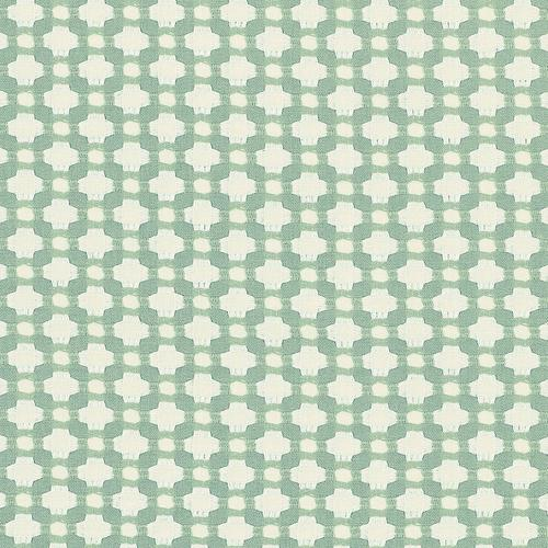 Schumacher Betwixt Water/Ivory Fabric - Fabric