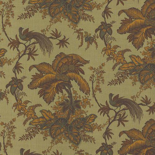 Schumacher Coconut Grove Spruce Fabric - Fabric