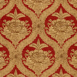 Schumacher Haddon Hall Damask Venetian Red Fabric