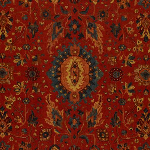 Schumacher Jahanara Carpet Turkish Red Fabric - Fabric