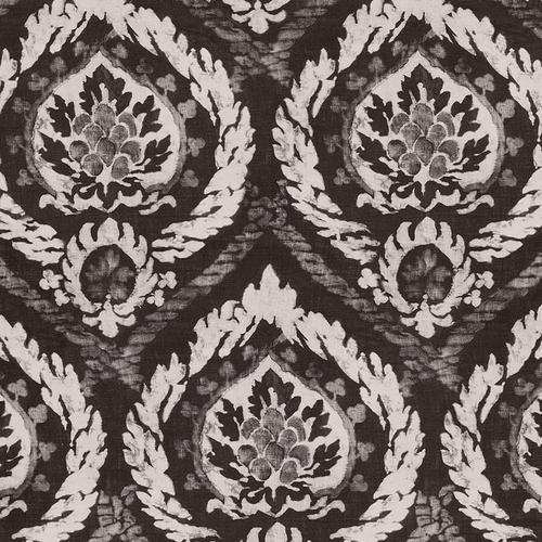 Schumacher Abaza Resist Charcoal Fabric - Fabric