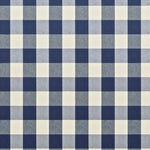 Ralph Lauren Sturbridge Gingham Marine Blue Fabric