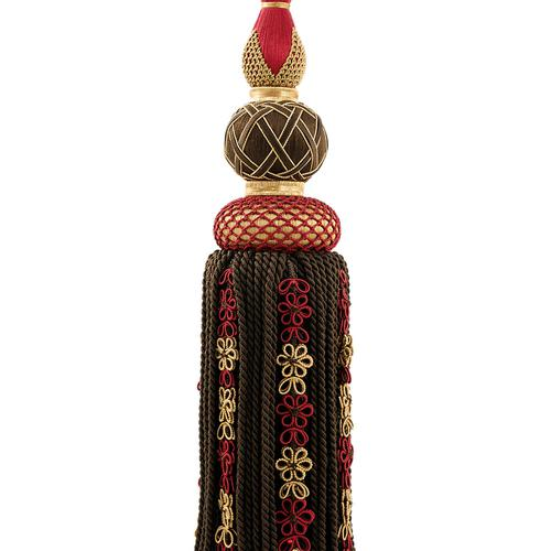 Scalamandre Siecle Single Tassel Tieback Ebony Bordeaux Trim - Trim