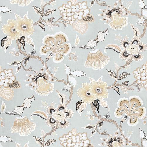 Schumacher Hothouse Flowers Mineral Fabric - Fabric