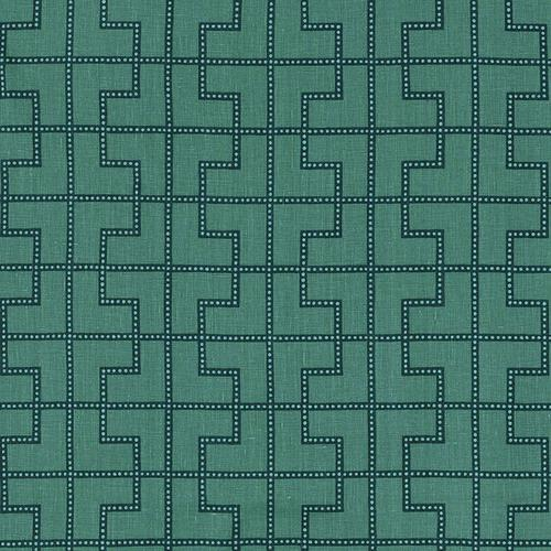 Schumacher Bleecker Peacock Fabric - Fabric