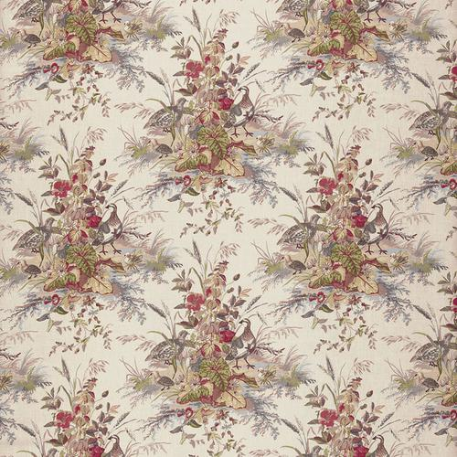 Schumacher Quail Meadow Winter Fabric - Fabric