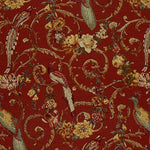 Schumacher Madrigal Brick Red Fabric