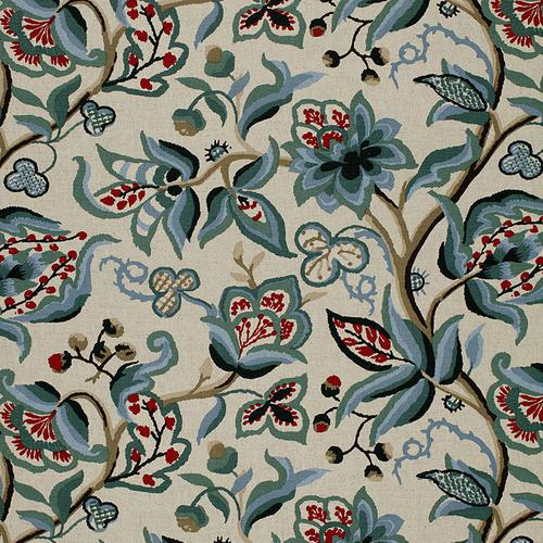 Schumacher Alexandra Vine Document Fabric - Fabric