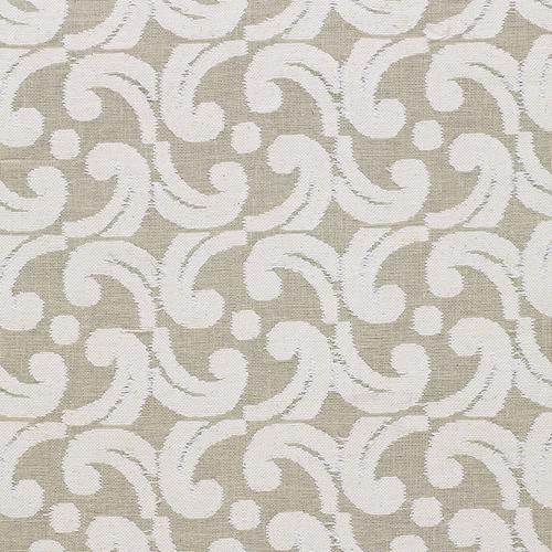 Schumacher Baroque Cutwork Natural Fabric - Fabric
