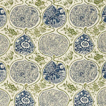 Schumacher Katsugi Indigo & Green Fabric