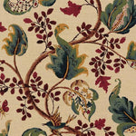 Schumacher Fox Hollow Document Natural Fabric