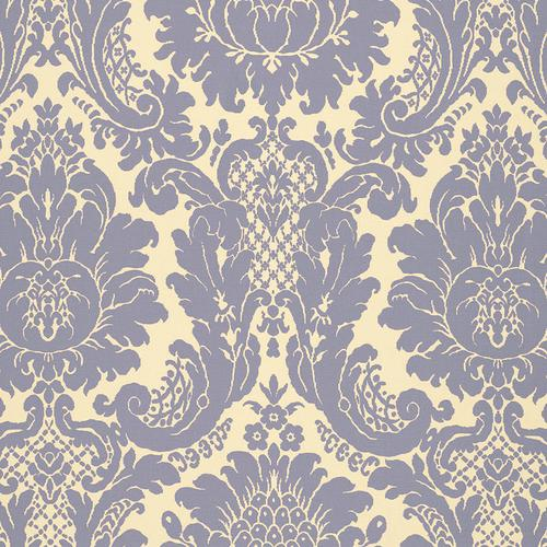 Schumacher Harmon Manor Ii Blue Fabric - Fabric