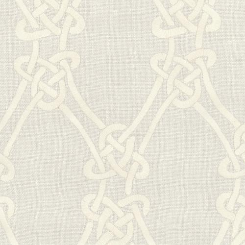 Schumacher Gordian Weave Natural On Greige Fabric - Fabric