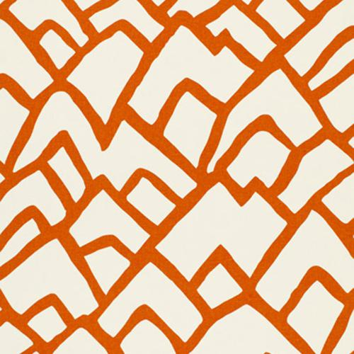 Schumacher Zimba Orange Fabric - Fabric