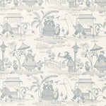 Schumacher Bassano Embroidered Toile Delft Fabric