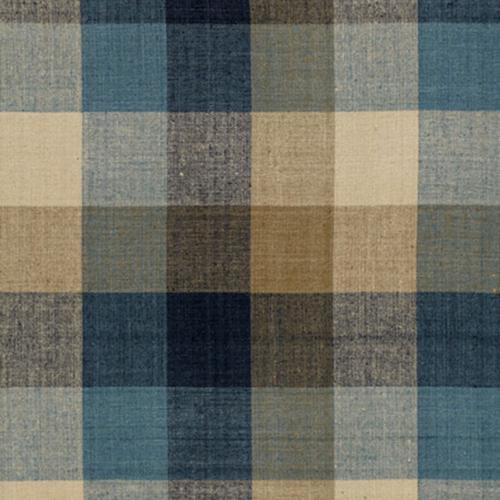 Schumacher Graylyn Plaid Indigo Fabric - Fabric