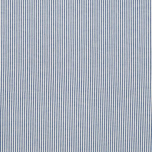 Schumacher Bailey Seersucker Blue Fabric - Fabric