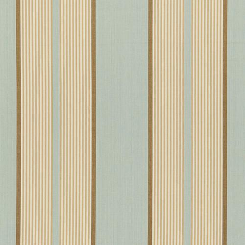 Schumacher Summerside Stripe Aqua Fabric - Fabric