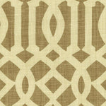 Schumacher Imperial Trellis Natural/Coffee Fabric