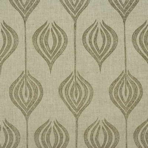 Groundworks Tulip Natural/Stone Fabric - Fabric