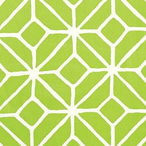 Schumacher Trellis Print Apple Fabric - Fabric