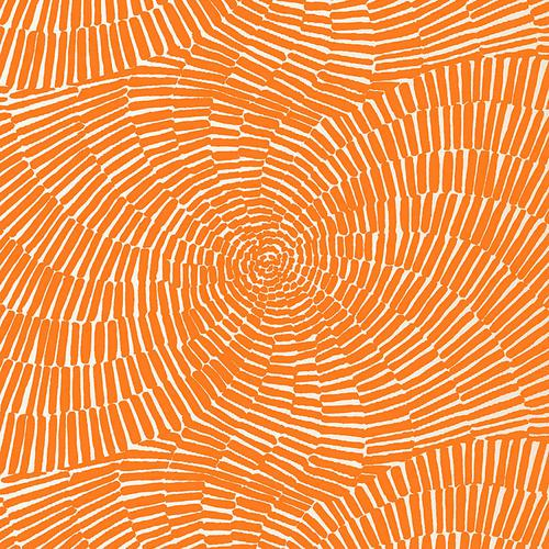 Schumacher Sonriza Print Orange Fabric - Fabric