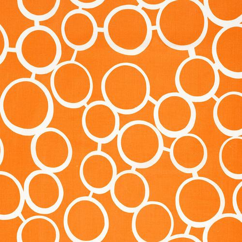 Schumacher Sunglass Print Orange Fabric - Fabric