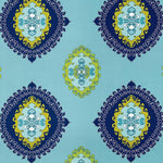 Schumacher Super Paradise Print Pool Fabric