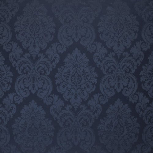 Ralph Lauren Albertine Damask Prussian Blue Fabric - Fabric