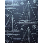 Ralph Lauren Collection Chesapeak White On Navy * Wallpaper