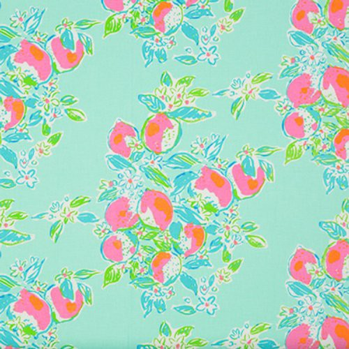 Lee Jofa Pink Lemonade Pool Blue Fabric - Fabric