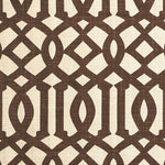 Schumacher Imperial Trellis Ii Java / Cream Fabric