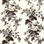 Schumacher Pyne Hollyhock Charcoal Fabric