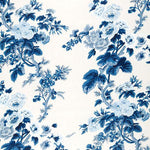 Schumacher Pyne Hollyhock Indigo Fabric