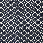 Schumacher Ziggurat Navy Fabric
