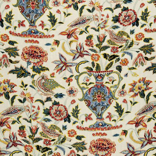 Schumacher Camberwell Vase Print Document Fabric - Fabric