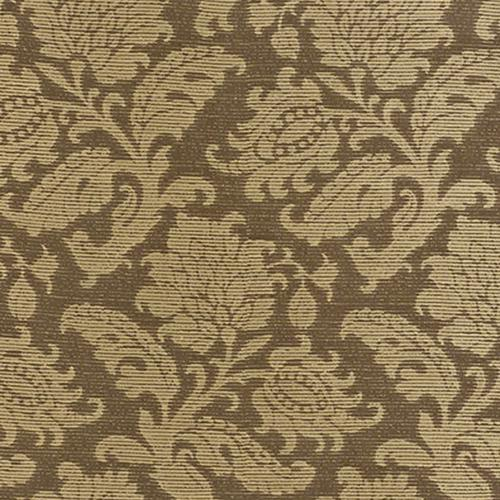 Schumacher Montego Damask Java Fabric - Fabric