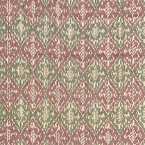 Schumacher Varanasi Cotton Ikat Mulberry Fabric - Fabric