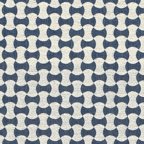 Schumacher Nolita Embroidery Denim Fabric - Fabric