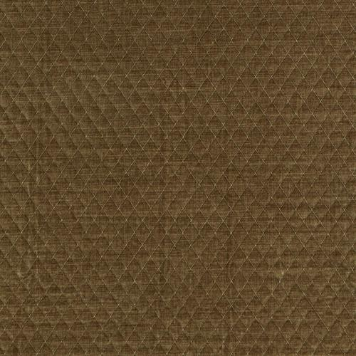 Schumacher Paley Quilted Velvet Praline Fabric - Fabric